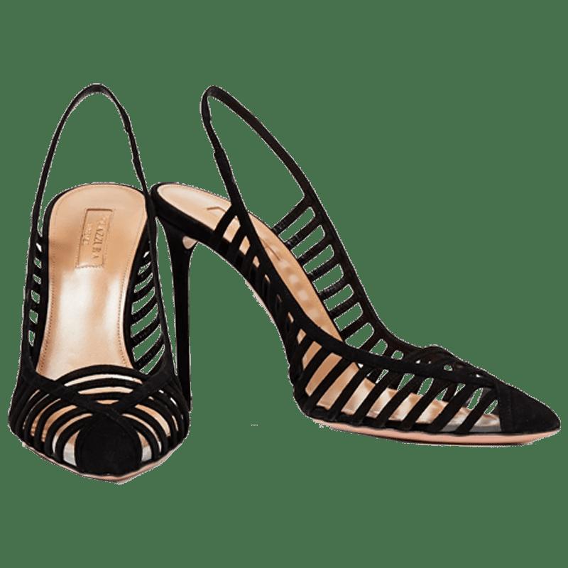 Cosima 105 cutout suede slingback pumps