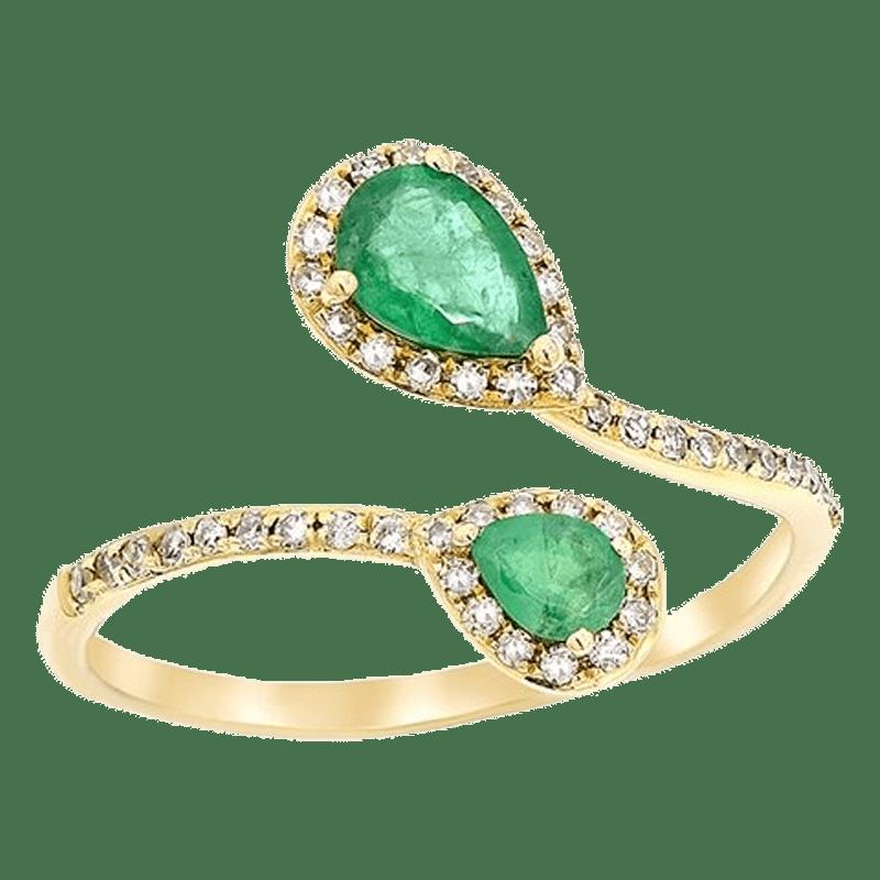 Diana M. Fine Jewelry 14K Yellow Gold 0.72 Ct. Tw. Diamond & Emerald Ring