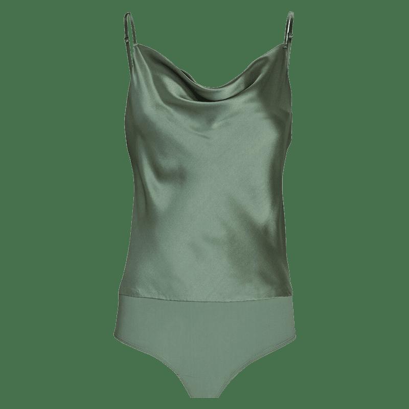 Elsie Silk Cowl Neck Bodysuit