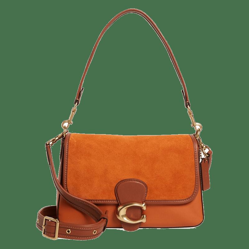 Leather & Suede Shoulder Bag