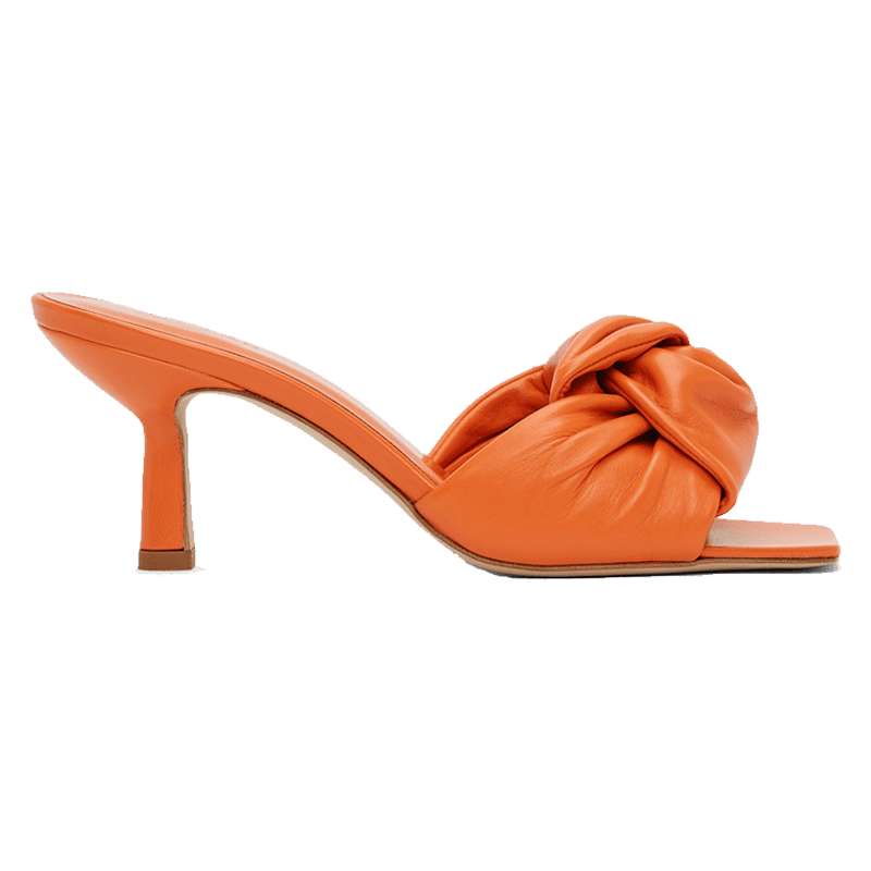 Orange Lana Heeled Sandals