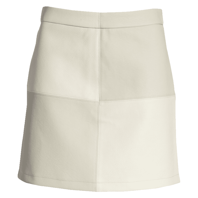 Patch Perfect Faux Leather Skirt