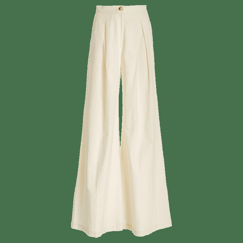 Raices Pleated Linen Wide-Leg Pants