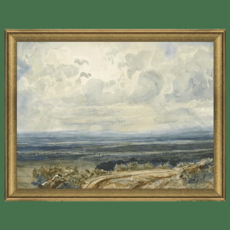 Sun Ray Landscape Framed Print